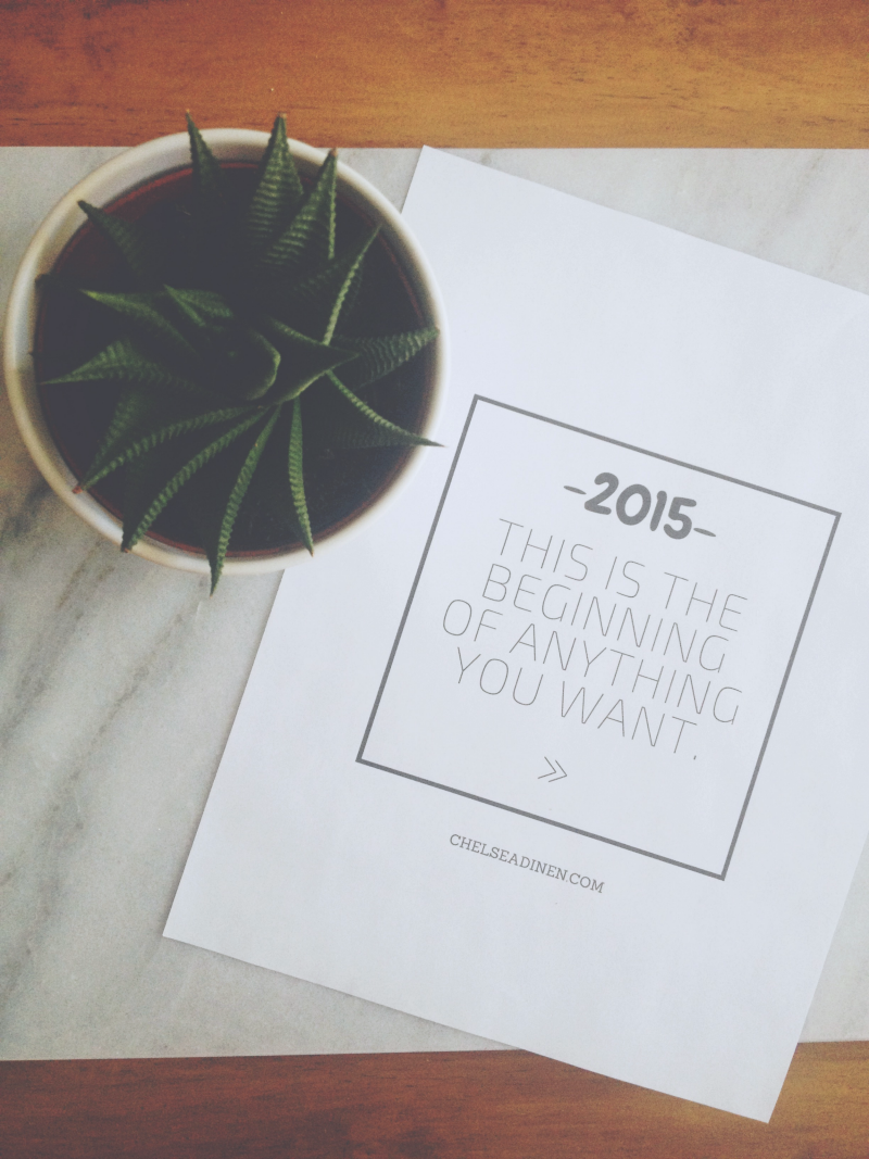 2015 - This is the beginning of anything you want