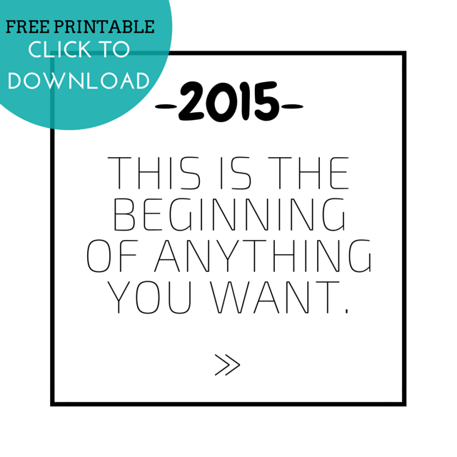 This is the beginning of anything - free printable | via ChelseaDinen.com