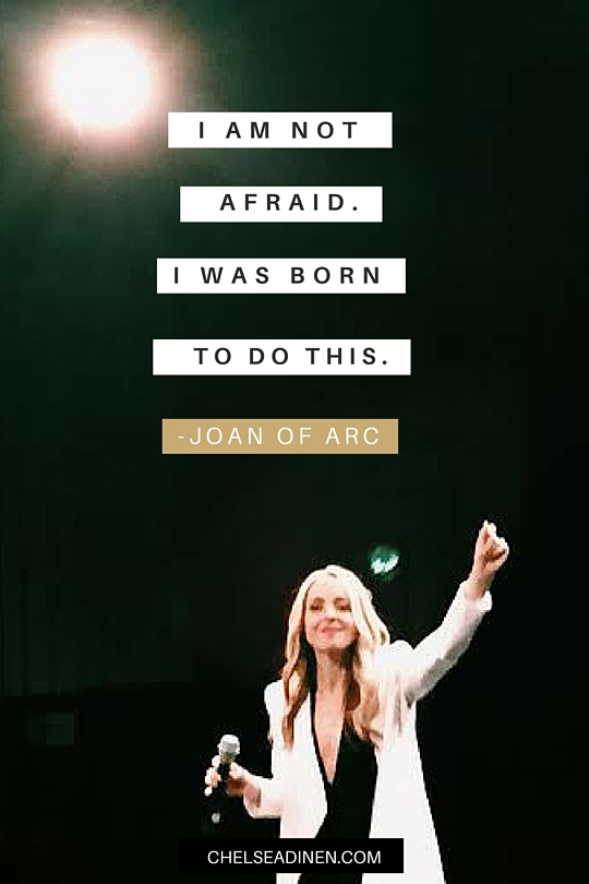 I am not afraid. I was born to do this. | ChelseaDinen.com #SpiritJunkieMasterclass