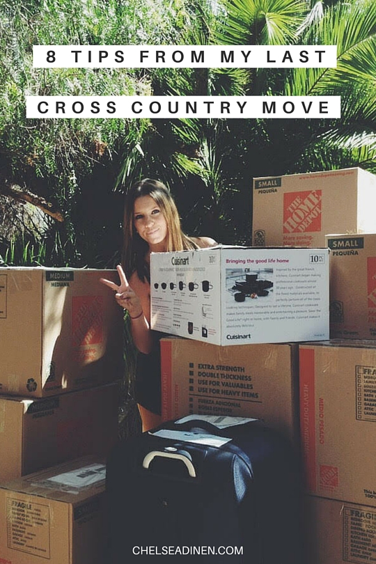 8 tips from my last cross country move | ChelseaDinen.com