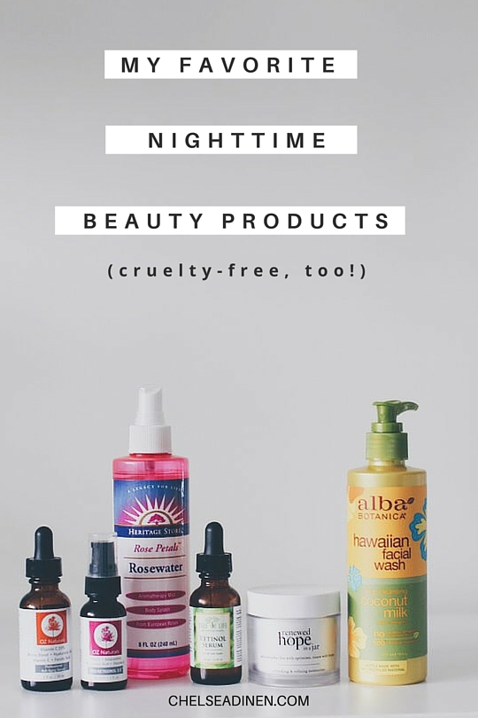 My favorite nighttime beauty products | ChelseaDinen.com