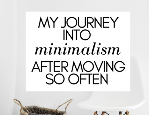 My journey into minimalism after moving so often | ChelseaDinen.com