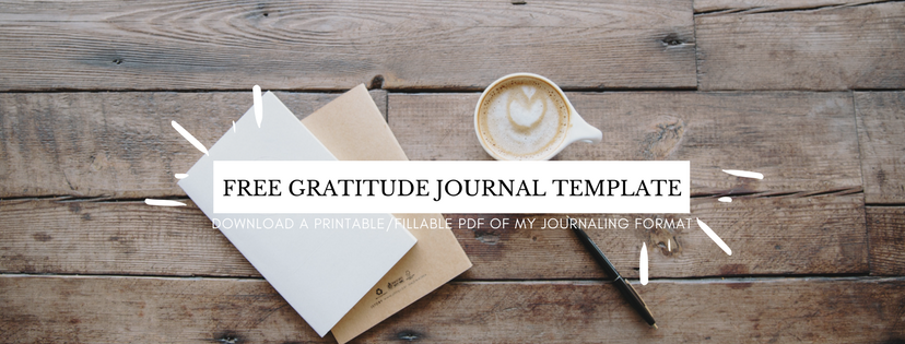 Gratitude Journal Template | ChelseaDinen.com
